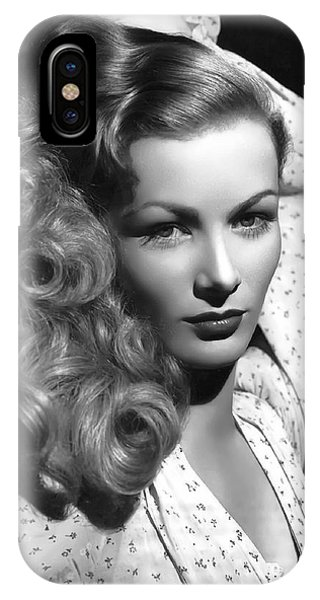 Leading Actress iPhone Case - Veronica Lake Actress by Daniel Hagerman
