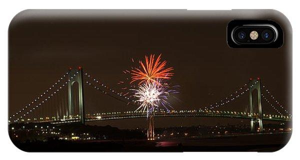 Verrazano Narrows Bridge Fireworks IPhone Case