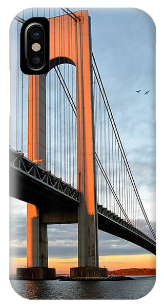 Verrazano Bridge At Sunrise - Verrazano Narrows IPhone Case