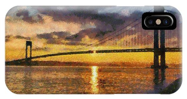 Verrazano Bridge During Sunset IPhone Case