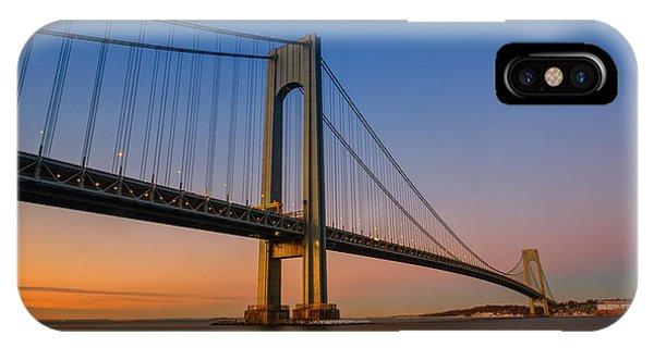 Verrazano Bridge Sunrise  IPhone Case