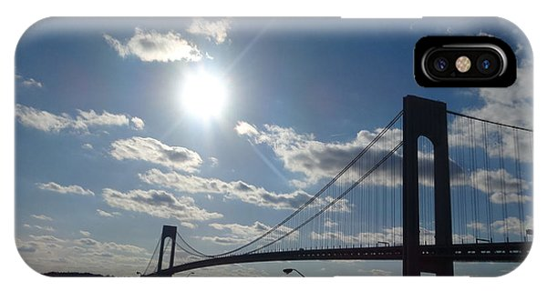 Verrazano Bridge Sunset IPhone Case