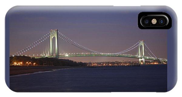 Verrazano Narrows Bridge At Night IPhone Case