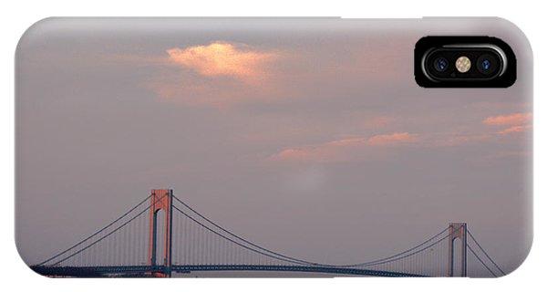 Verrazano Narrows Bridge At Sunset IPhone Case