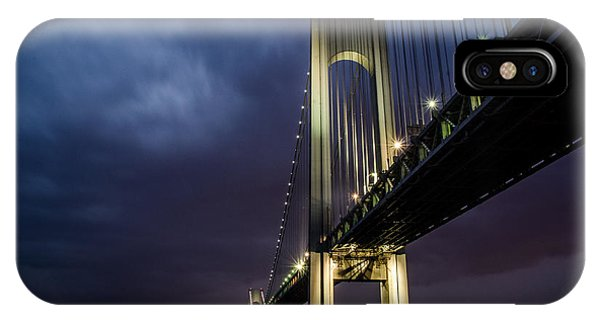IPhone Case featuring the photograph Verrazano-narrows Bridge by Johnny Lam
