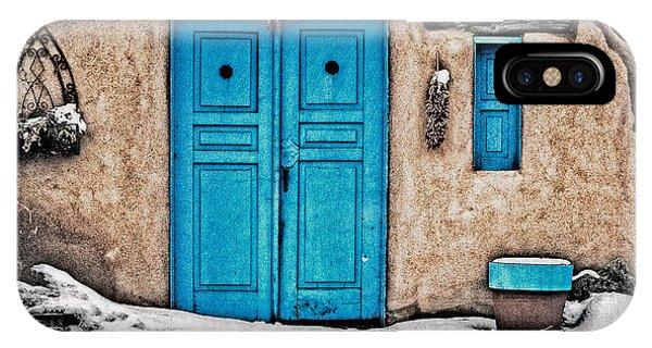 Very Blue Door IPhone Case