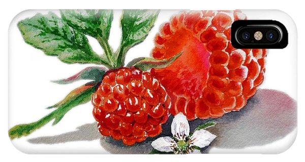 Artz Vitamins A Very Happy Raspberry IPhone Case