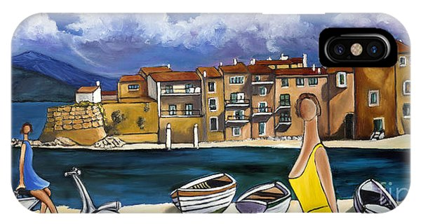 Vespa And French Cove IPhone Case