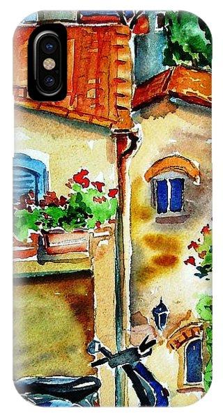 Vespa In Tuscany  Phone Case by Trudi Doyle