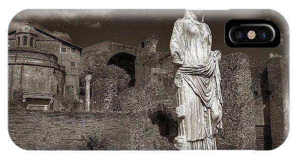Vestal Virgin Courtyard Statue IPhone Case