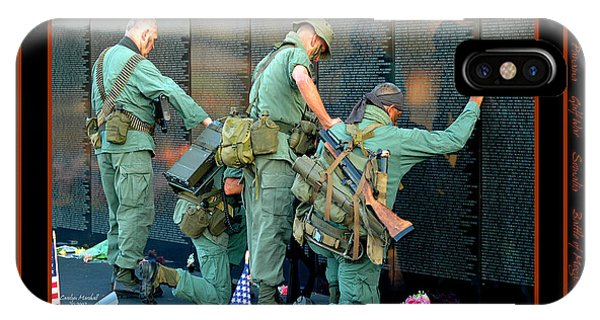 Monument iPhone Case - Veterans At Vietnam Wall by Carolyn Marshall