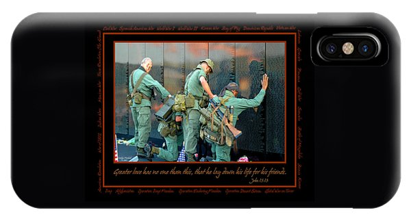 People iPhone Case - Veterans At Vietnam Wall by Carolyn Marshall