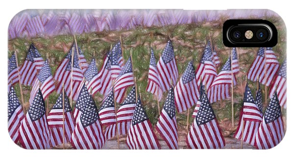 Veterans Day Display Color IPhone Case
