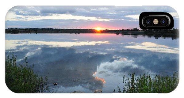 Veterans Lake Sunset IPhone Case