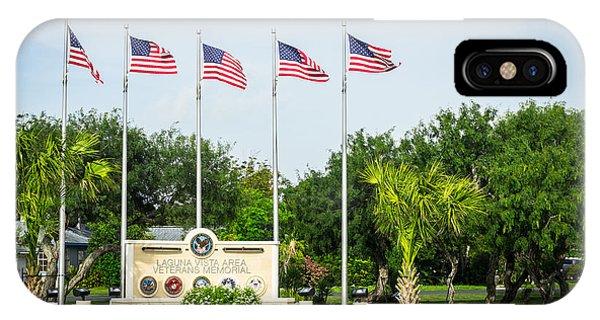Veterans Memorial Laguna Vista Texas IPhone Case