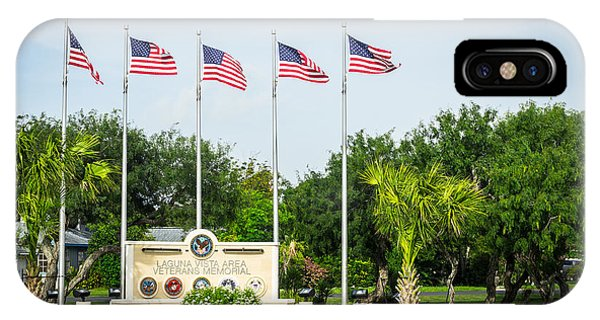Veterans Memorial Laguna Vista Texas IPhone Case