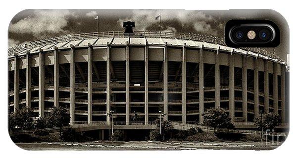 Philadelphia Phillies Stadium iPhone Case - Veterans Stadium 1 by Jack Paolini
