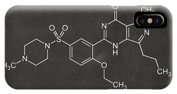 Dark Humor iPhone Case - Viagra Molecular Structure Gray by Nikki Marie Smith