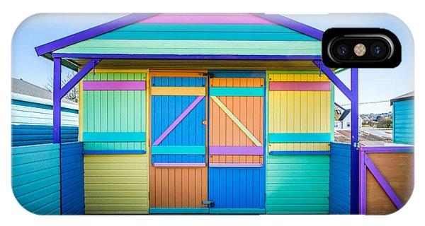 Vibrant Beach Hut IPhone Case