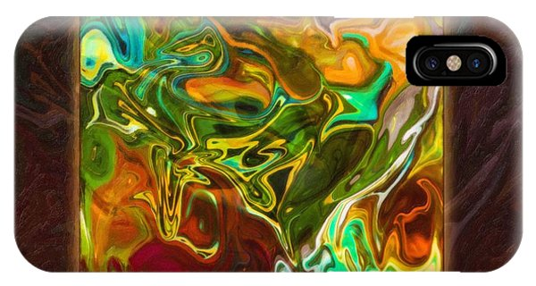 Vibrant Fall Colors An Abstract Painting IPhone Case