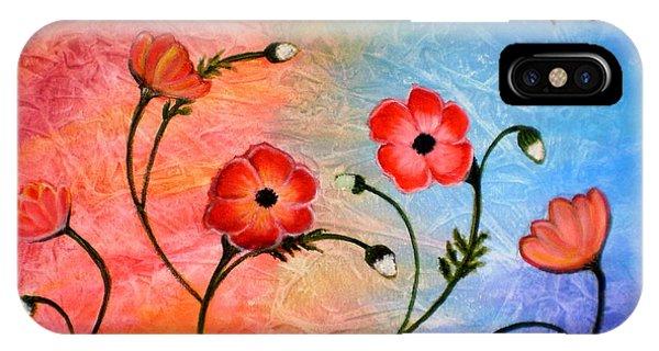 Vibrant Poppies IPhone Case