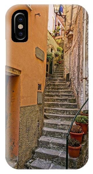 Vicolo Della Valle Riomaggiore Italy Dsc02537  IPhone Case