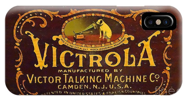 Victor Victrola Label IPhone Case