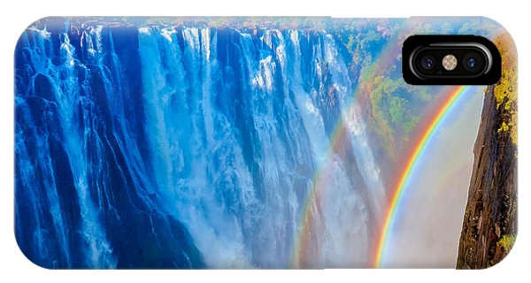 Victoria Falls Double Rainbow IPhone Case