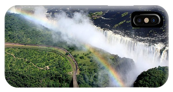 Rainbow Over Victoria Falls  IPhone Case