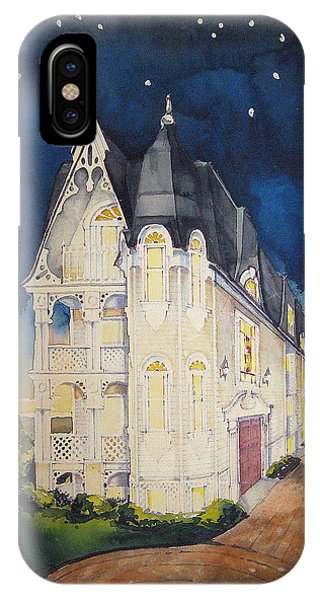 The Victorian Apartment Building By Rjfxx. Original Watercolor Painting. IPhone Case