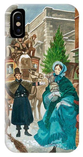 Victorian Christmas Scene IPhone Case