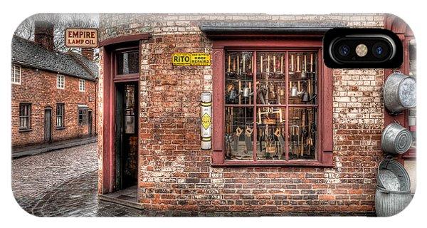 British Empire iPhone Case - Victorian Corner Shop by Adrian Evans