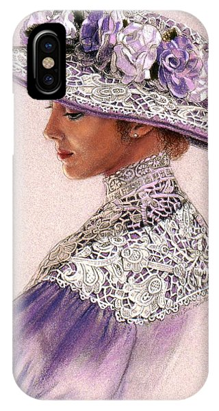 Victorian Lady In Lavender Lace IPhone Case