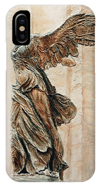 Louvre iPhone Case - Victory Of Samothrace by Joey Agbayani