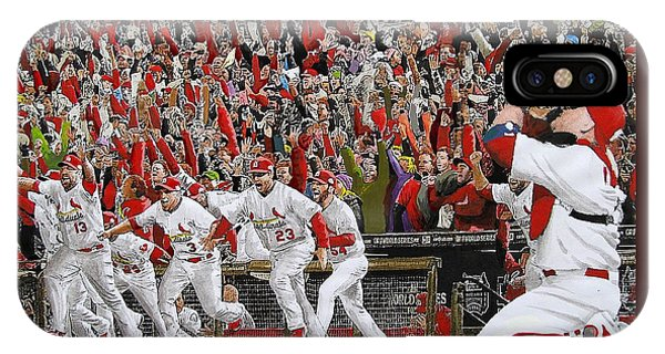 Cardinal iPhone Case - Victory - St Louis Cardinals Win The World Series Title - Friday Oct 28th 2011 by Dan Haraga