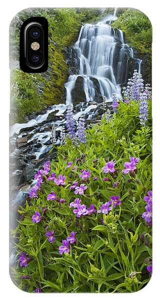Vidae Falls And Flowers IPhone Case