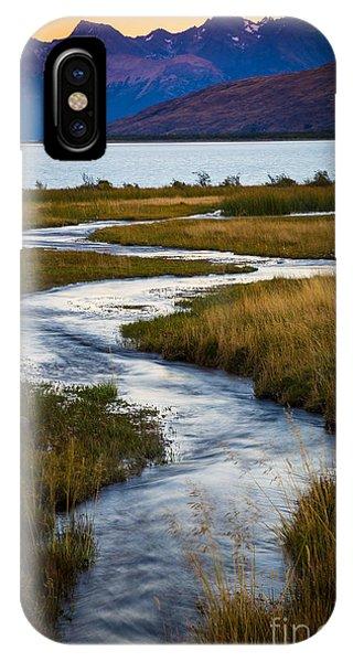 Creek iPhone Case - Viedma Creek by Inge Johnsson