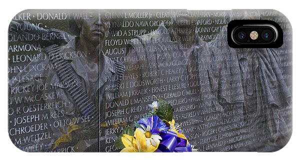 Vietnam Veteran Wall And Three Soldiers Memorial Collage Washington Dc_2 IPhone Case