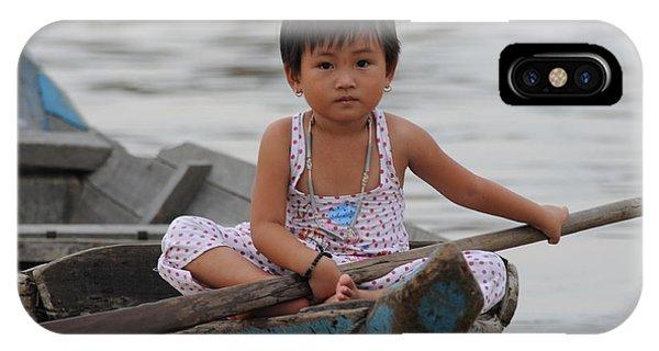 Vietnamese Girl On Lake Tonle Sap IPhone Case