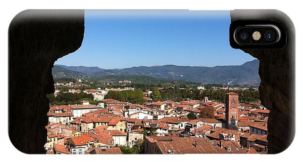 View From A Tower Window In Lucca IPhone Case