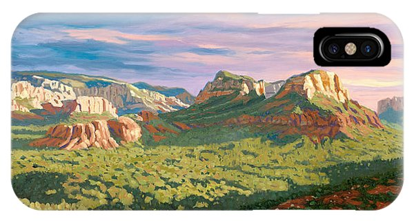 Courthouse iPhone Case - View From Airport Mesa - Sedona by Steve Simon