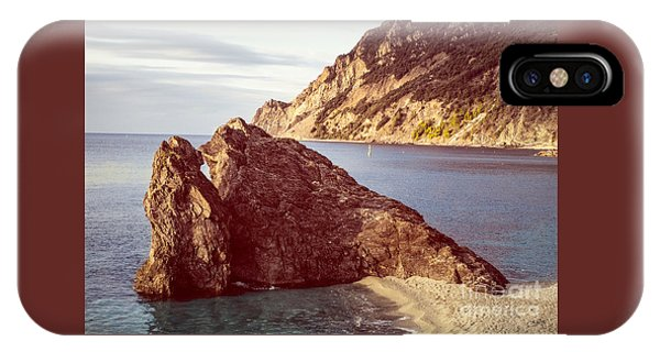 View From Beach Of Monterosso IPhone Case