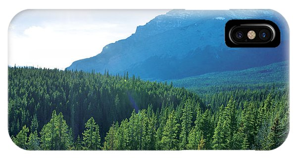 Sherri iPhone Case - View From Lake Minnewanka by Sherri Abell