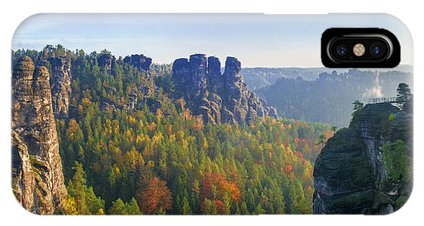 View From The Bastei Bridge In The Saxon Switzerland IPhone Case