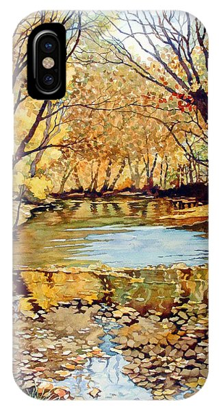 View From The Covered Bridge IPhone Case
