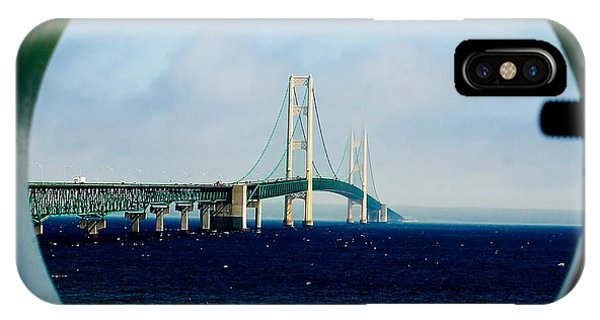 View From The Mackinac Light IPhone Case