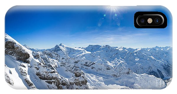 View From Titlis Mountain Towards The South IPhone Case