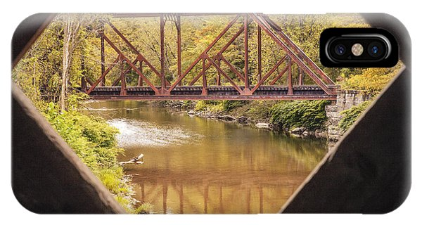 View From Worrall Covered Bridge IPhone Case