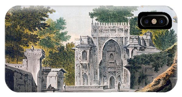 British Empire iPhone Case - View Of A Mosque At Chunar Gur by William Hodges