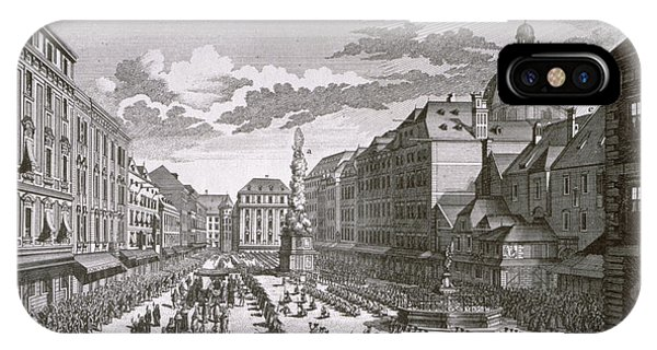 Baroque iPhone Case - View Of A Procession In The Graben Engraved By Georg-daniel Heumann 1691-1759 Engraving by Salomon Kleiner